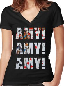 Amy Amy Amy! Women's Fitted V-Neck T-Shirt