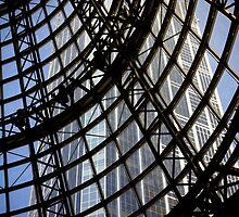 Roof above Shot Tower Melbourne Central by Pauline Tims