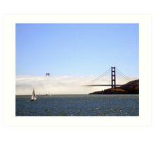 Golden Gate Bridge Under A Fog Blanket Art Print