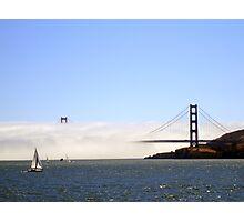 Golden Gate Bridge Under A Fog Blanket Photographic Print