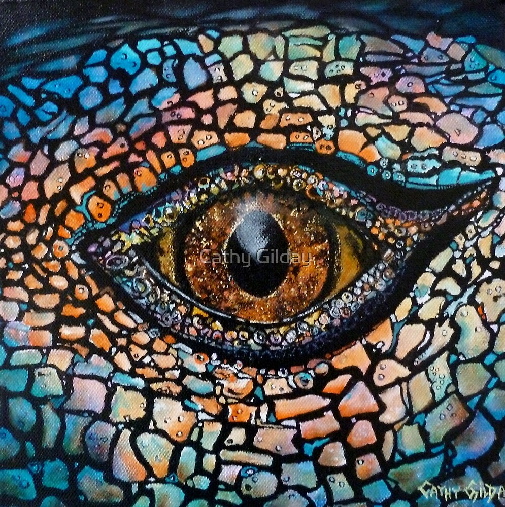 Quot Lizards Eye Quot By Cathy Gilday Redbubble