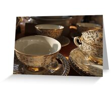 old pottery cup Greeting Card