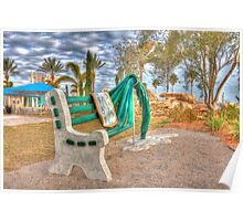 Dali Clock Bench Poster