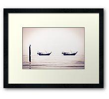 Fishing boats returning home, Kuwait Framed Print