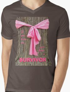 SURVIVOR: Breast Cancer Awareness Tee Mens V-Neck T-Shirt