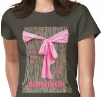 SURVIVOR: Breast Cancer Awareness Tee Womens Fitted T-Shirt