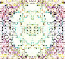 colorful circular pattern by jbartistic
