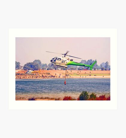 Helitankers At Champion Lakes  Art Print