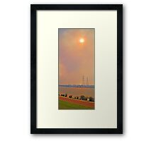 Champion Lakes Bushfire  Framed Print