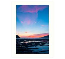 Sunset At Wonwell Art Print