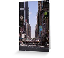 7th Avenue. Greeting Card