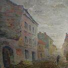 Yardman  / 1988 /  oil on canvas by Ivan KRUTOYAROV