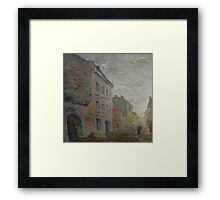 Yardman  / 1988 /  oil on canvas Framed Print