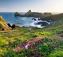 Kynance Cove, The Lizard, Cornwall. by Justin Foulkes