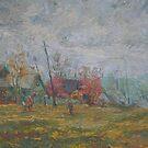 Farewell With Homeland  / 1988  /  oil, pencil on paper by Ivan KRUTOYAROV