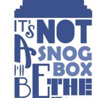 snog box Sticker
