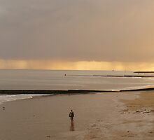 Lonely Boy on Clacton Beach by dustyparasol