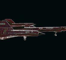 Lockheed M-21 Blackbird   by John Gaffen