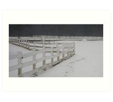 Stable Fence Art Print