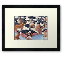 Corgi chess Framed Print