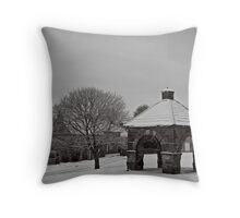 Ghosts of market days past Throw Pillow
