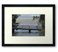 Footbridge at Karoo Bay Framed Print