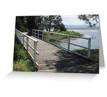 Where Creek and Lake Meet Greeting Card