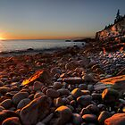 Sunrise at Rocky Beach, Acadia NP, ME by Oscar Gutierrez