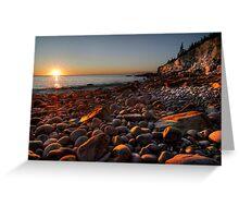 Sunrise at Rocky Beach, Acadia NP, ME Greeting Card