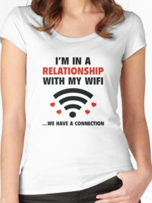 I'm In A Relationship Women's Fitted Scoop T-Shirt