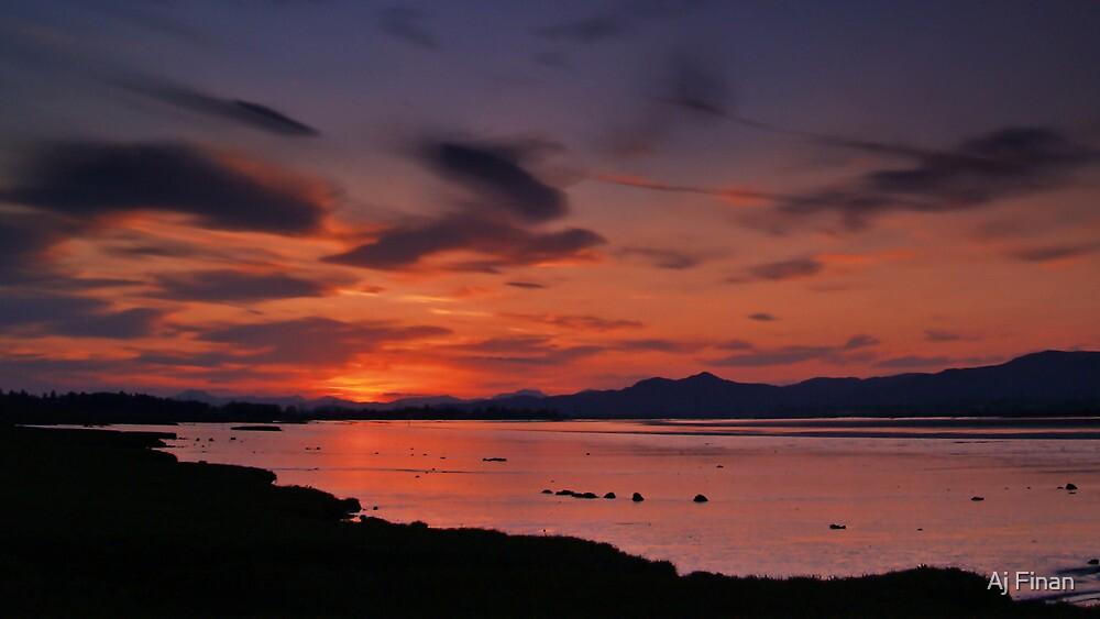 Spring Sunset 3 by Aj Finan