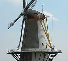 Dutch Windmill in Vlissingen Holland by hollandimages