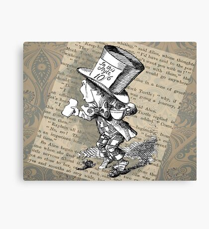 Hatter and Teacup  Canvas Print
