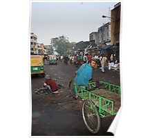 Off to work, Ahmedabad, Gujurat, India Poster