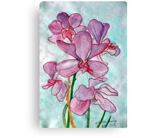 Orchid Flower in Watercolor Canvas Print