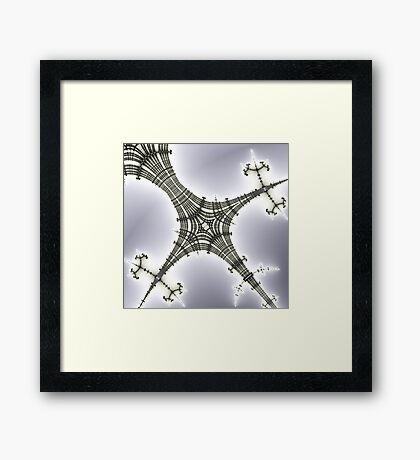 Rails and Branched Artifacts Framed Print