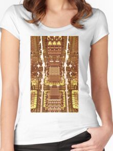 Golden - Abstract Fractal CG Women's Fitted Scoop T-Shirt