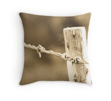 No bird on a wire Throw Pillow