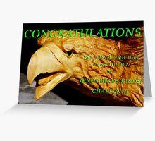 birds cubed top ten Greeting Card