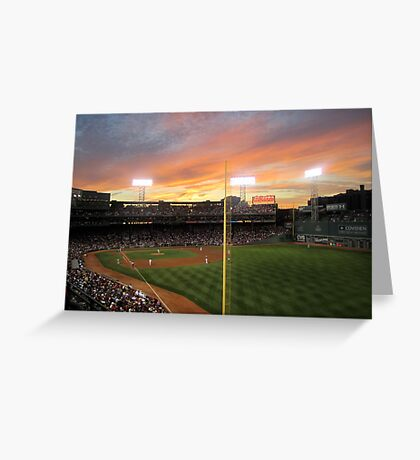 Sunset at Fenway  Greeting Card