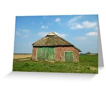 Old Barn in Frisian Landscape Greeting Card