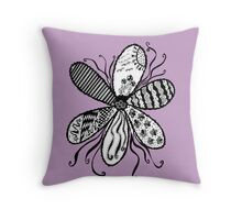 Flower Garden (The Lilac Collection) Throw Pillow