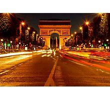 Arc De Triomphe (Paris, France) Photographic Print