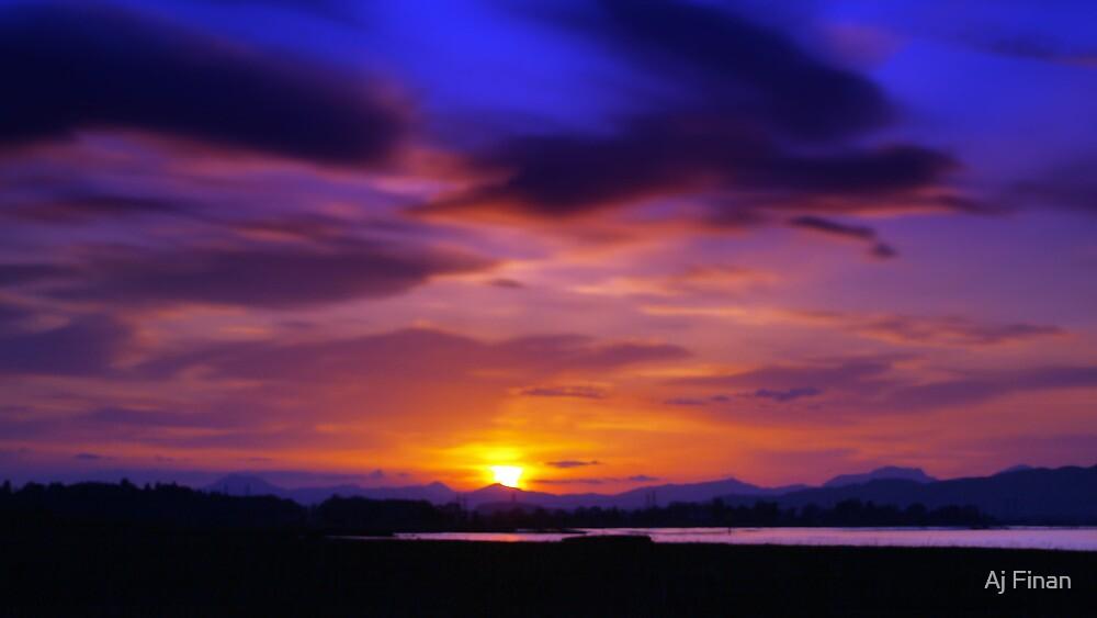 Spring Sunset 1 by Aj Finan
