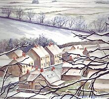 Big Freeze in Ebberston by Val Spayne