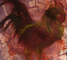 Rhode Island Red Bird by RealPainter