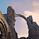 Rainbow Arch, Lindisfarne Priory by Lisa Hafey