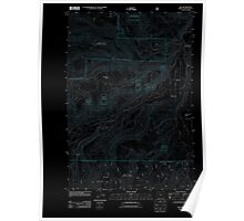 USGS Topo Map Oregon Dee 20110809 TM Inverted Poster