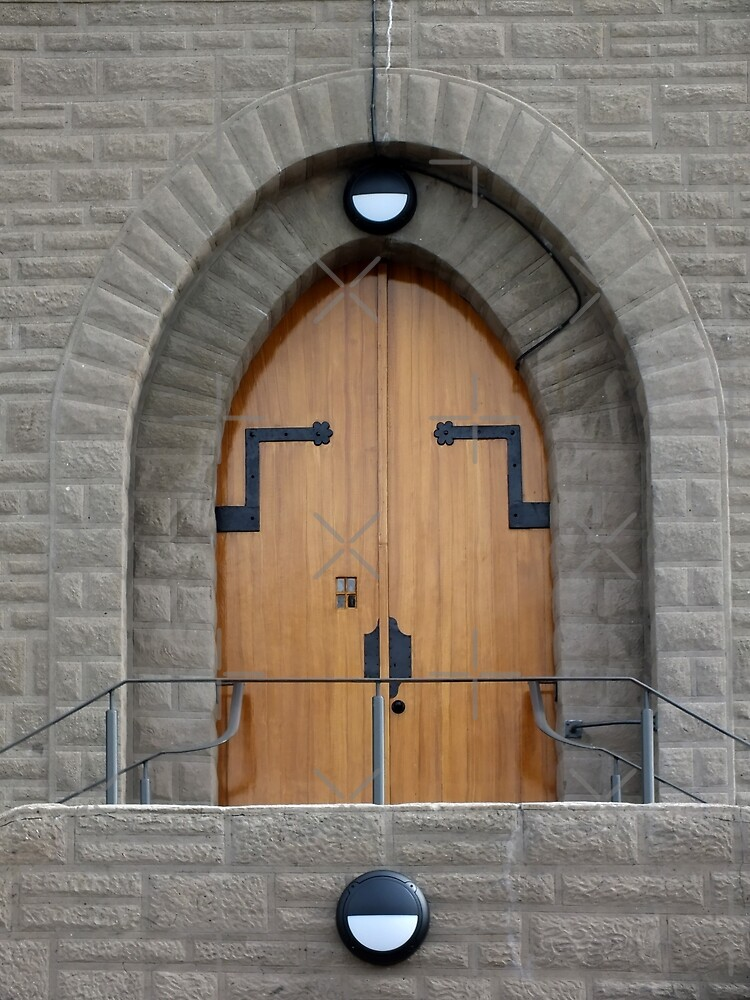 Door - Our Lady Star of the Sea and St Winefride, Amlwch by Yampimon