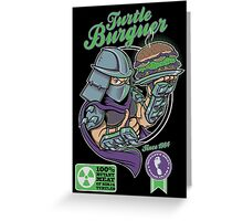 TURTLE BURGUER Greeting Card